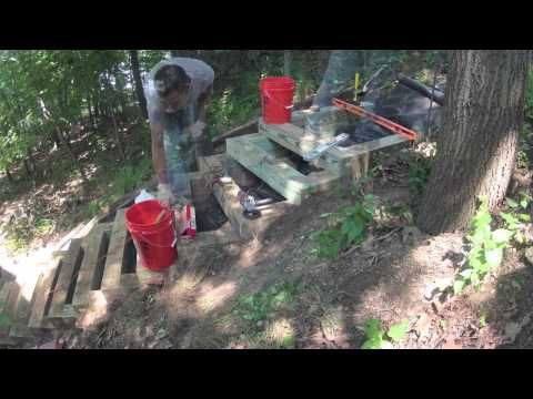 Building 6x6 Landscape Stairs Time Lapse Youtube Landscape Stairs Landscape Timbers Outdoor Wood Steps