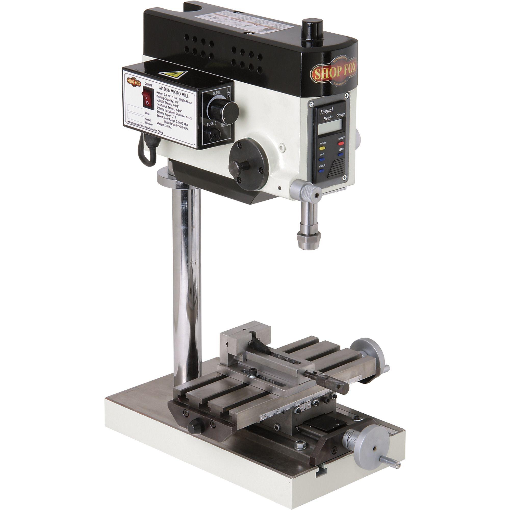 Shop Fox Micro Milling Machine Variable Speed 110v