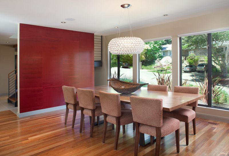 20 Fab Red Accent Walls In Dining Rooms  Red Accents Dining Room Awesome Dining Room Accent Wall Colors Design Decoration