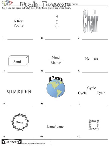 Common Core Sheets Lots Of Fun Activities Broken Down
