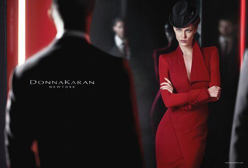 Fierce in red.     #DonnaKaran