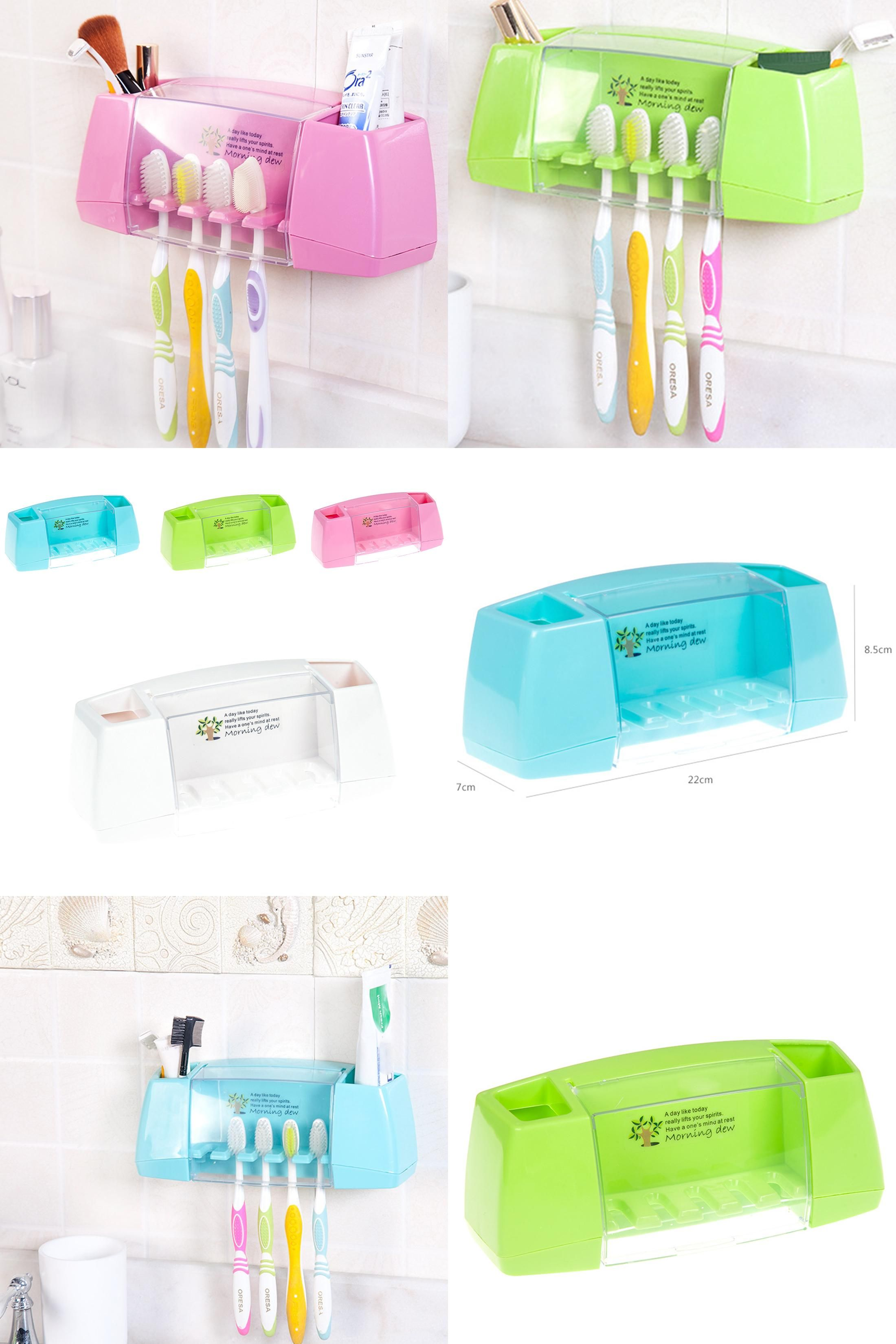 Bathroom Accessories Holder visit to buy] hot sale multifunctional toothbrush holder storage