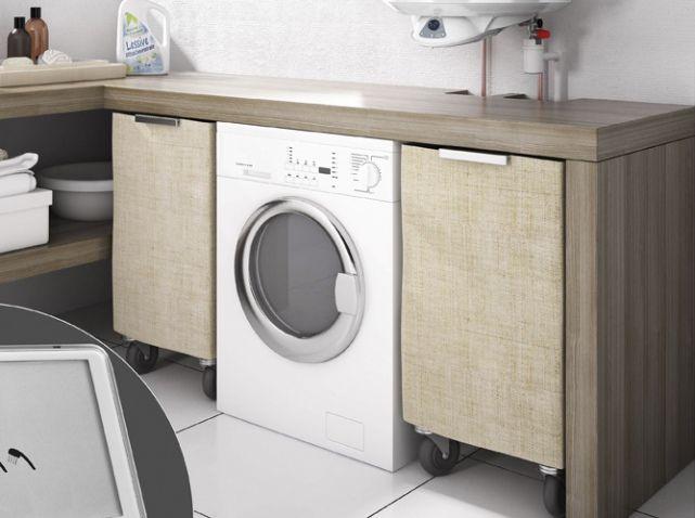 Bien int grer sa machine laver dans son int rieur elle - Integrer machine a laver dans salle de bain ...