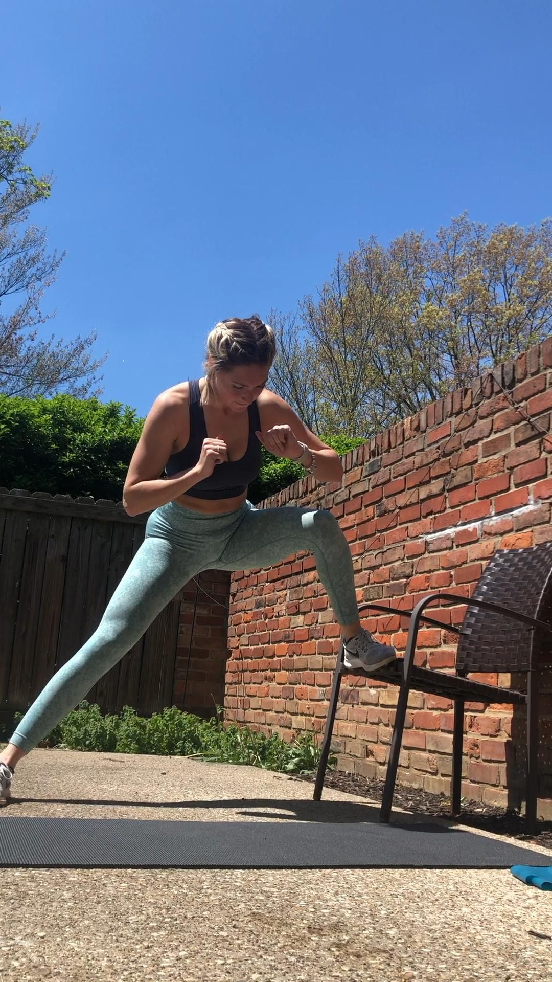 leg exercise elevated lunge jump