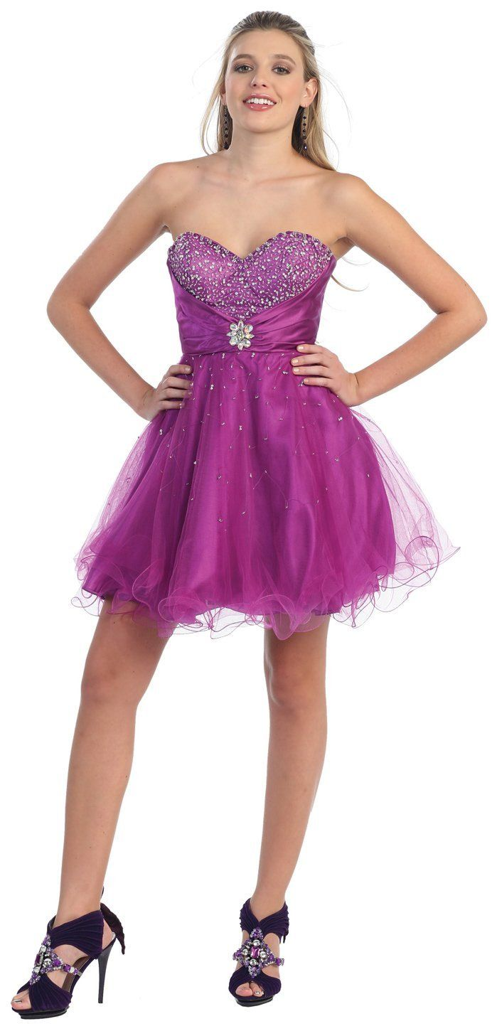 Strapless Cocktail Party Junior Prom Dress #2697 | Junior prom ...