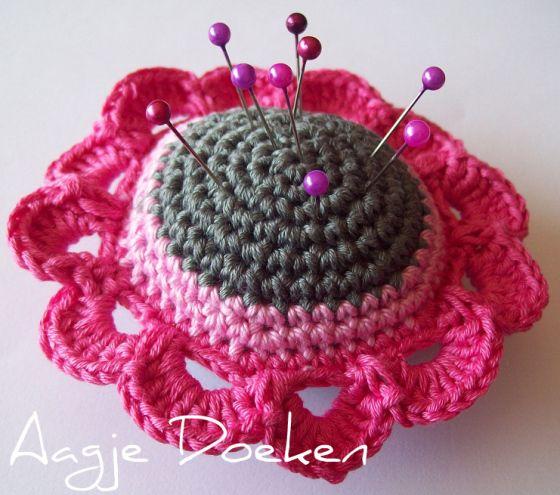 Patroon Gehaakt Speldenkussen Haken Crochet And Pin Cushions