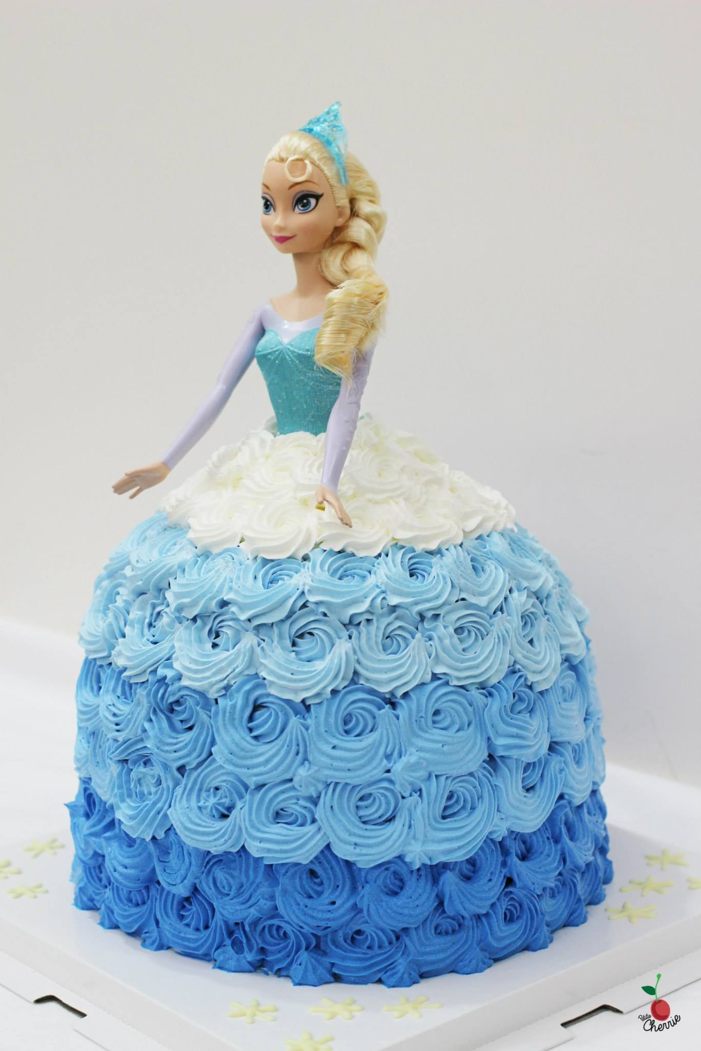 Snow Queen Elsa Doll 3d Cake Chocolate Angel Food Cake