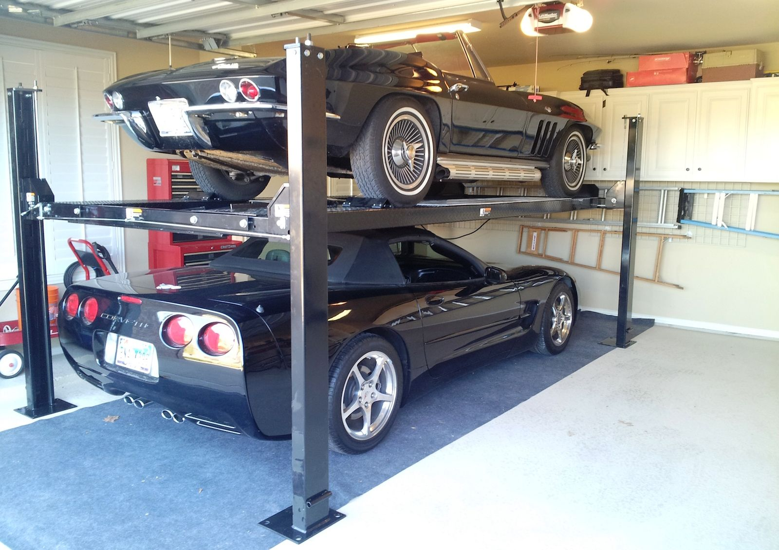 garages with lift garage space awesome three for car collection detached buy