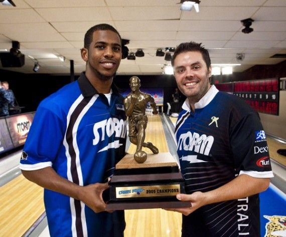 Chris Paul and IAB s very own Jason Belmonte with their 2009 Chris Paul PBA  Celebrity Invitational trophy! aa9bf68a8c8b