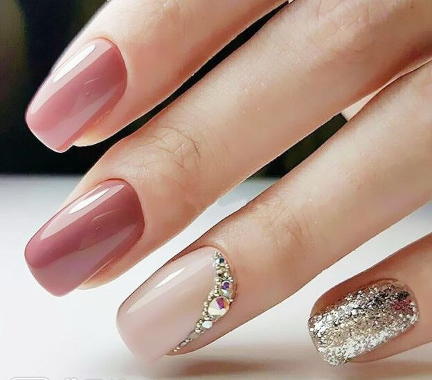 Glitter Jewel Nails Nailart
