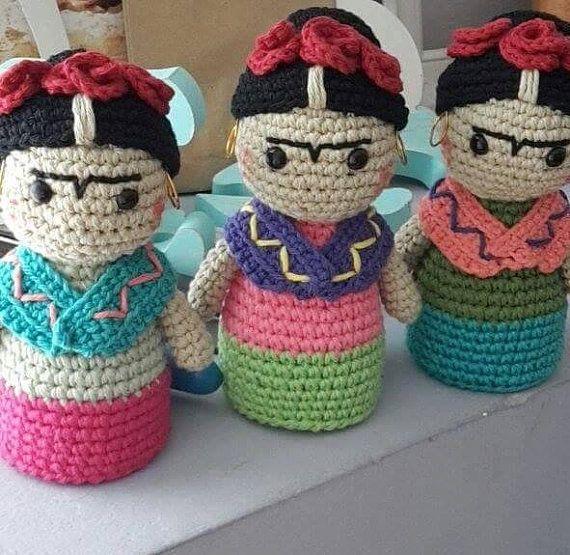 Frida Kahlo crochet/crochet pattern | Anillo mágico, Patrones de ...