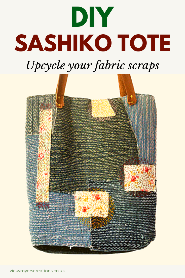 How To Make A Sashiko Denim Tote Bag