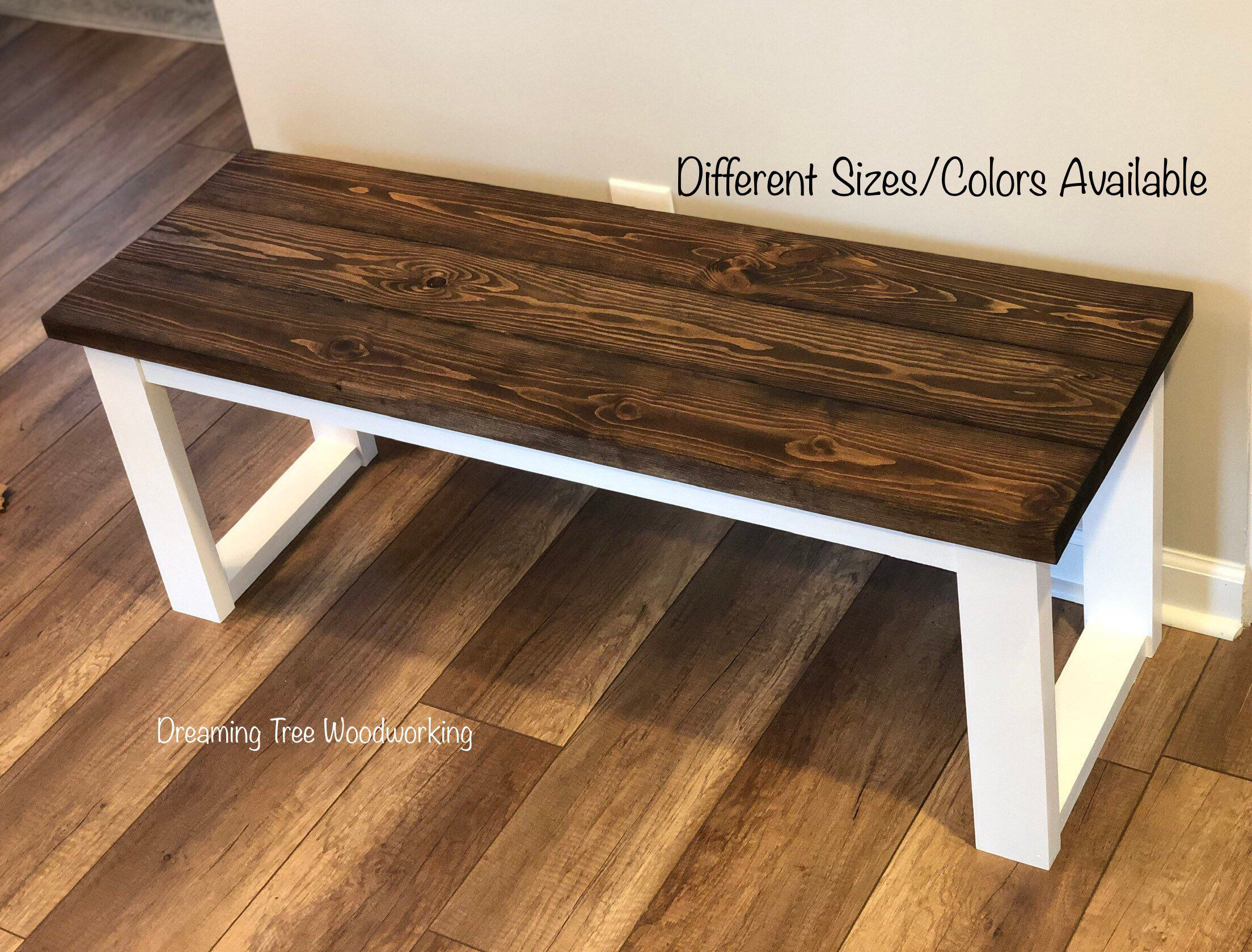 Entryway Bench Farmhouse Style Wood Bench Entrybench Entrywaybench Farmhousebench Rusticbench Woodbench Farmhous Diy Wood Bench Diy Furniture Furniture
