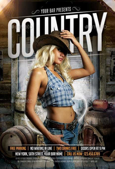 Country Flyer Template Check Out This New Psd Flyer Template On Http
