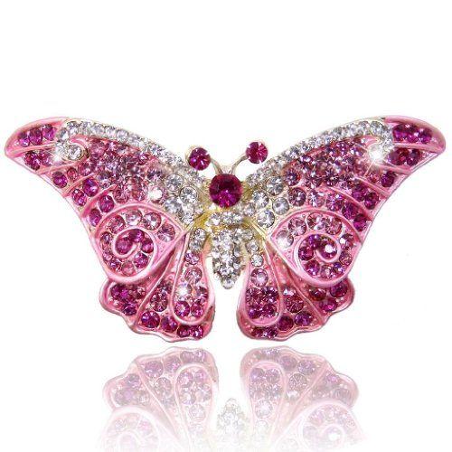 TENYE Austrian Crystal Enamel Elegant Dragonfly with Flower Cluster Brooch GOEqkn6