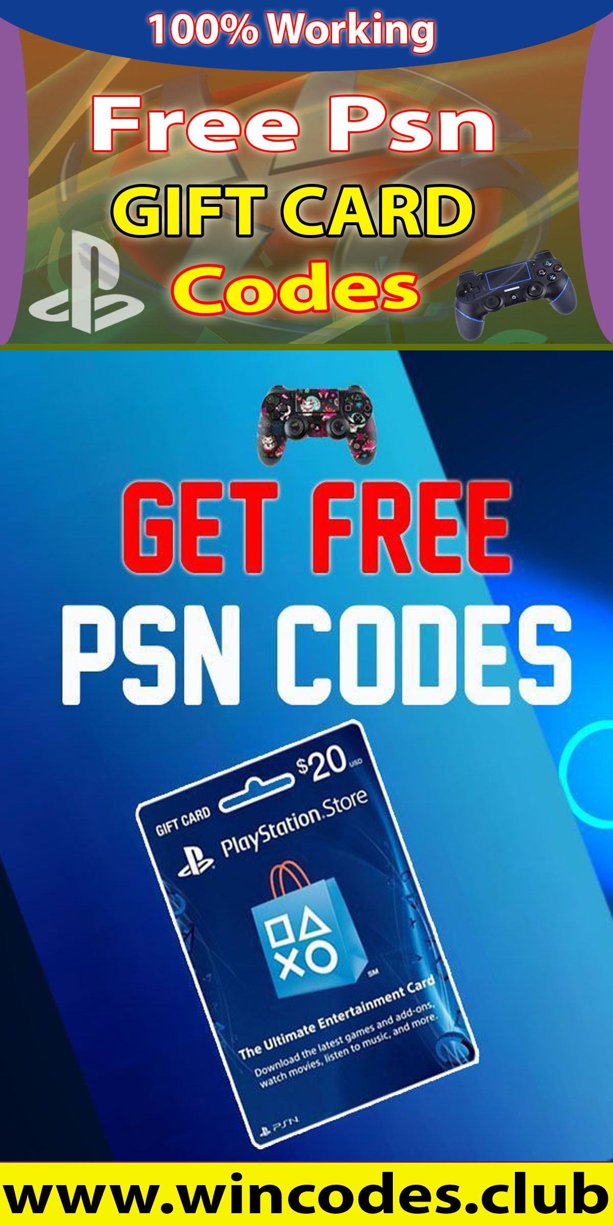 Free PSN Codes Playstation in 2020 Coding, Gift card, Free