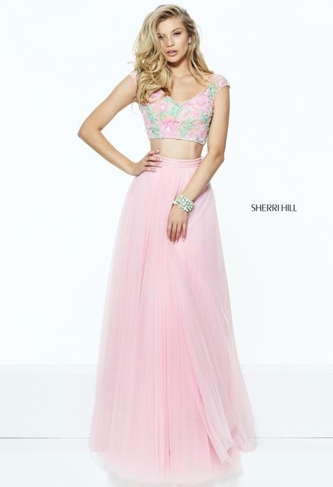 Sherri Hill 50932 Sherri Hill Celebrations Coral size 6 Prom Dress ...