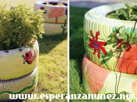 Llantas Decoradas Tire Garden Diy Garden Decor Diy Outdoor Decor