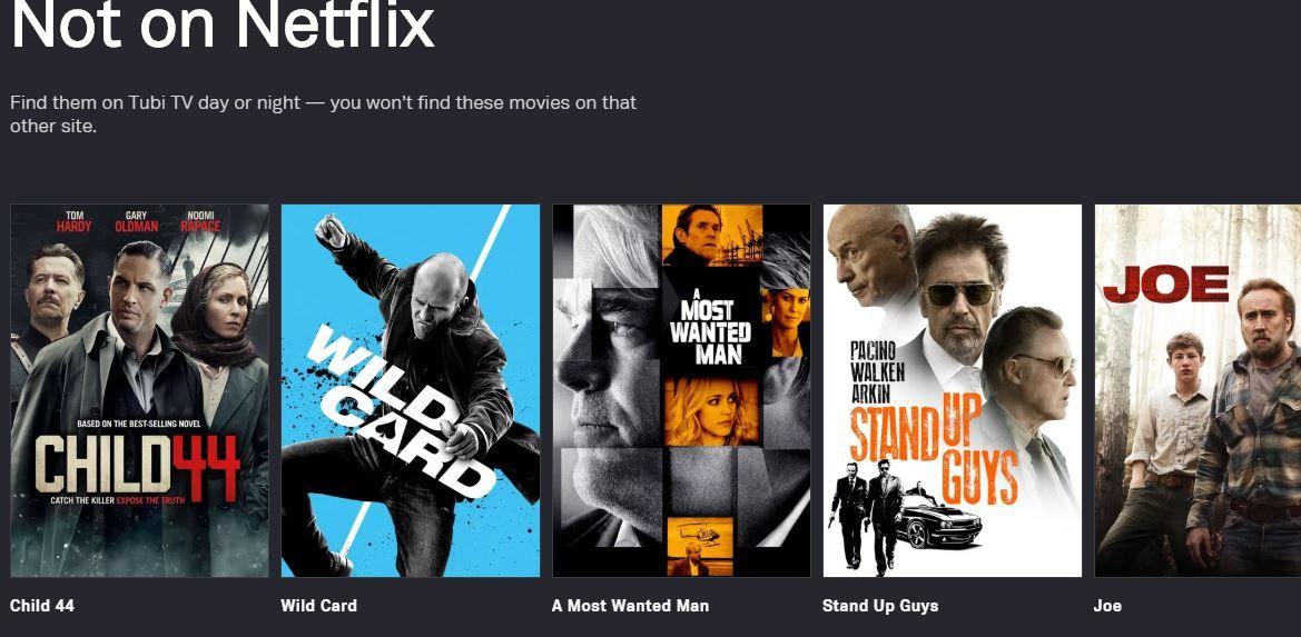 Tubi TV More movies than Netflix — for free Netflix