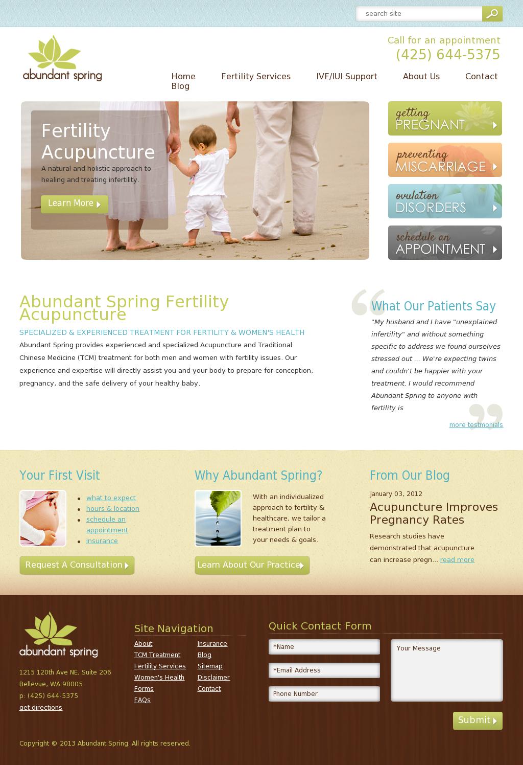 Abundant Spring Website Design Web Design Health Quotes Inspirational Medical Websites