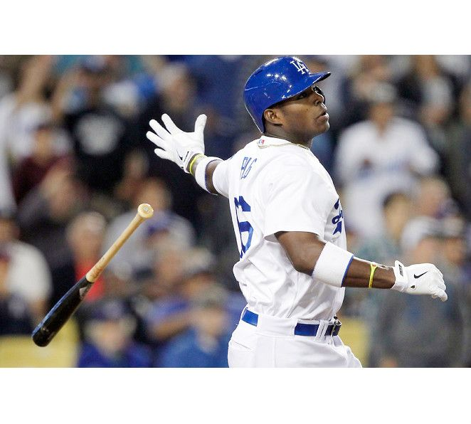 Yasiel Puig, Los Angeles Dodgers--Dodgers savior? I don't know, but he's a helluva lot of fun to watch!