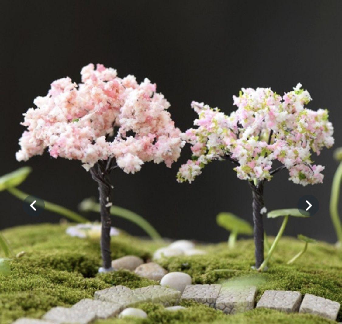 Pin By Salma Ghayal On Fairy Garden Fairy Garden Ornaments Miniature Fairy Gardens Artificial Cherry Blossom Tree