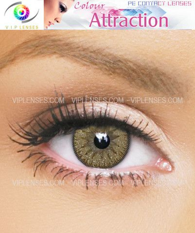 Color Attraction Absolute Gold Contact Lenses Green Contacts Lenses Halloween Contact Lenses Grey Contacts