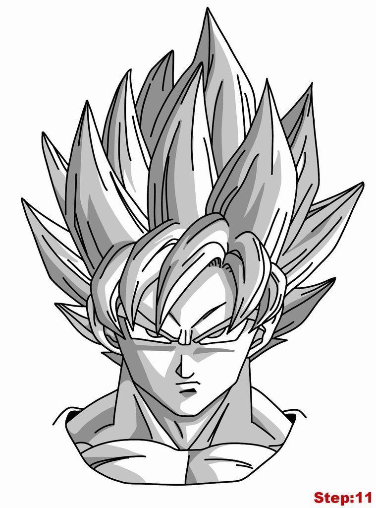 Download Or Print This Amazing Coloring Page How To Draw Goku Super Saiyan From Dragonball Z How To Goku Drawing Dragon Ball Artwork Anime Dragon Ball Super