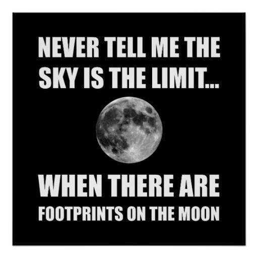 Footprints On The Moon Poster Full moon