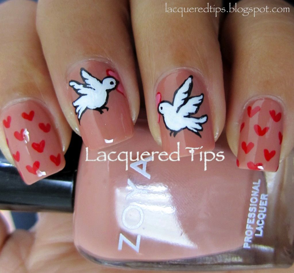 Love Birds Nail Art: Nails, Nail Art, Nail Designs