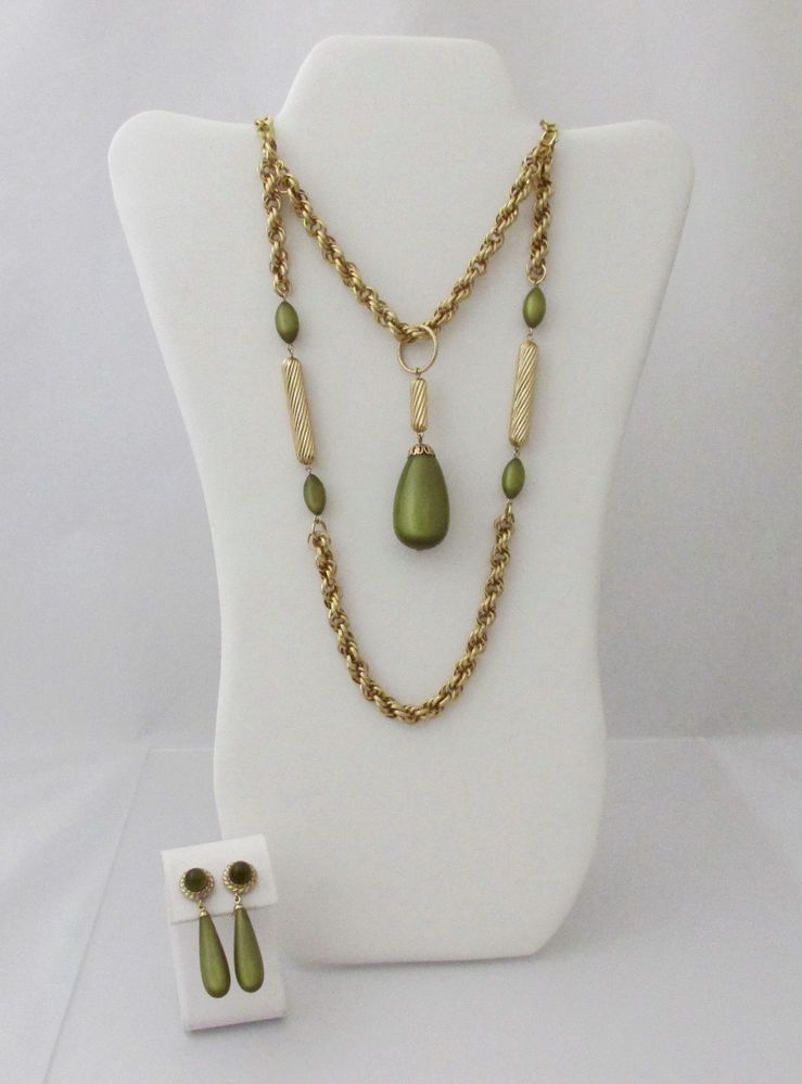 Sarah coventry golden avocado moonglow necklace earrings extension sarah coventry golden avocado moonglow necklace earrings extensionbracelet set aloadofball