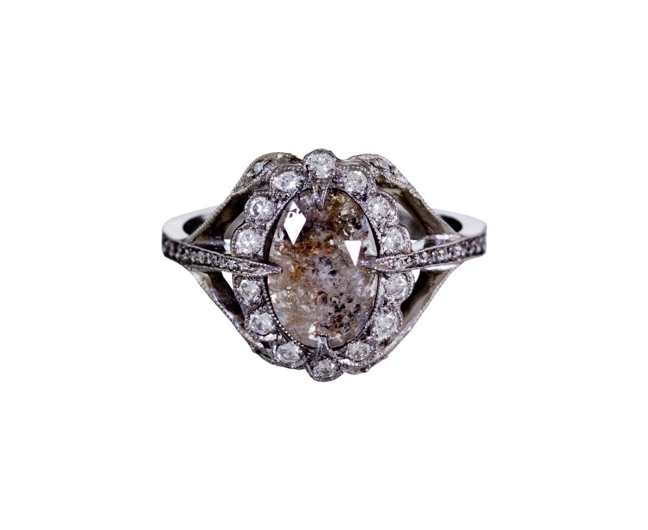 Cathy Waterman Rustic Diamond Secret Garden Ring Wat R1918 7 310 00