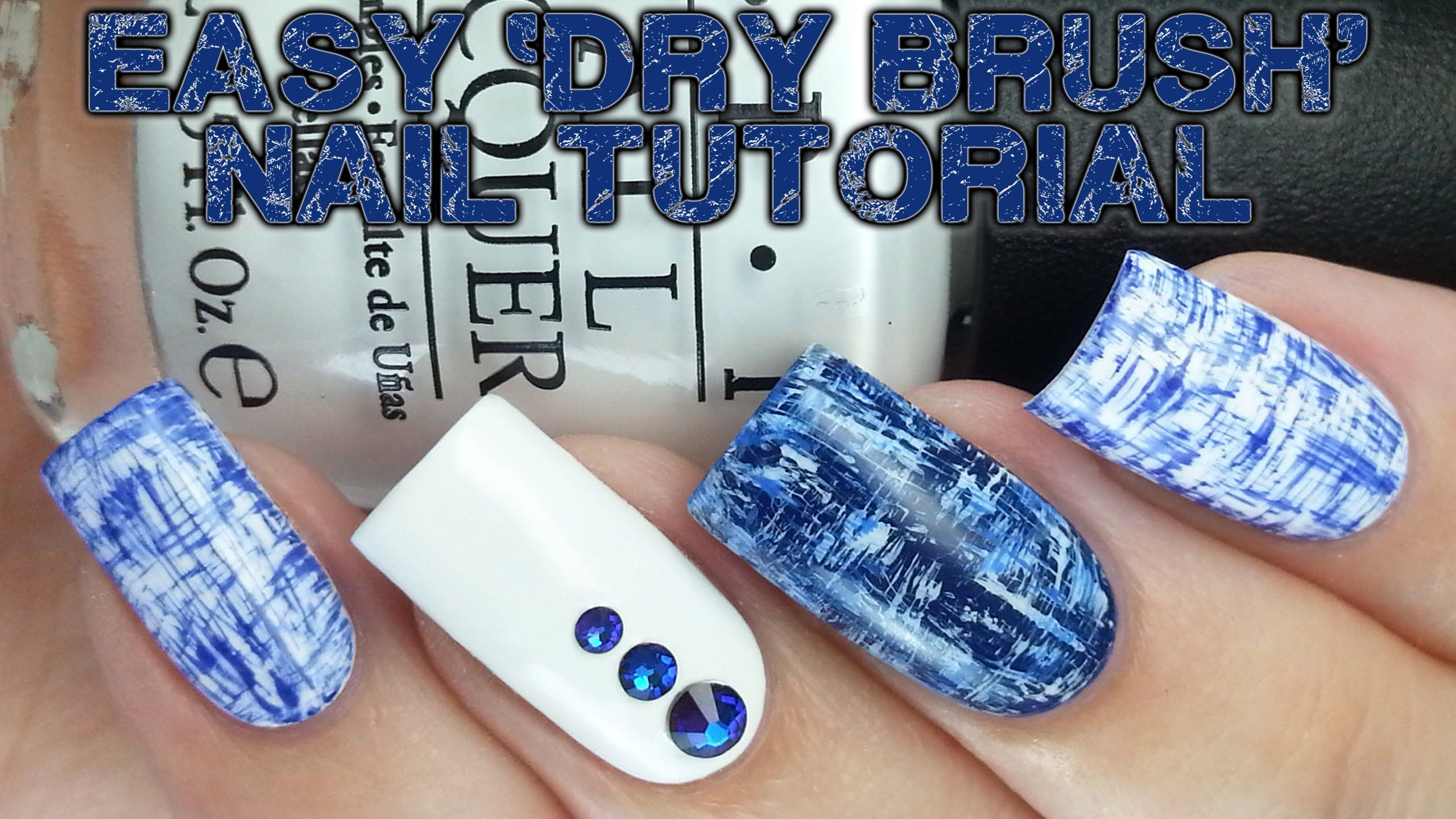 Easy 'Dry Brush' Nails: No tools needed!!