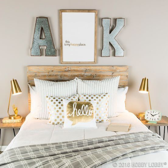 Hobby Lobby Home Decor Ideas: Hobby Lobby Initials Over Headboard