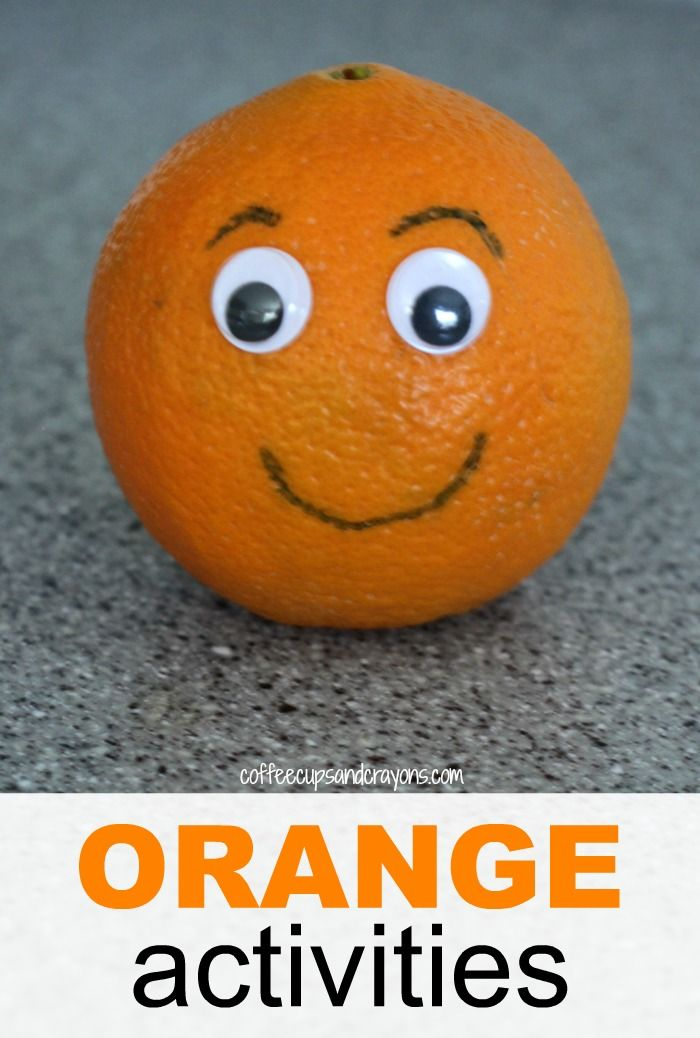Orange Craft And Snack For Preschool Orange Craft Preschool