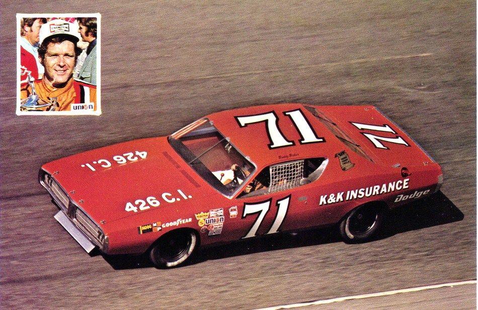 Buddy baker kk insurance dodge 1972 nascar race cars