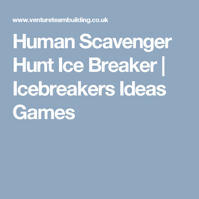 Christmas Party Icebreaker Games For Adults: Human Scavenger Hunt Ice Breaker