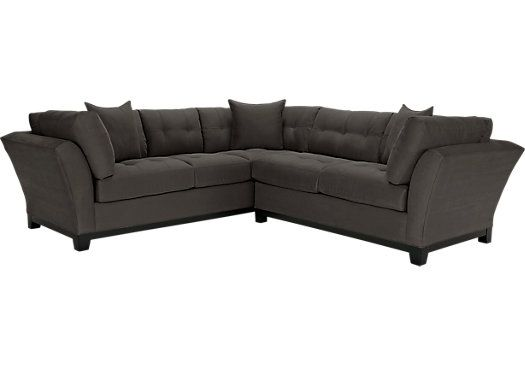 Picture Of Cindy Crawford Home Metropolis Slate 2 Pc Sectional
