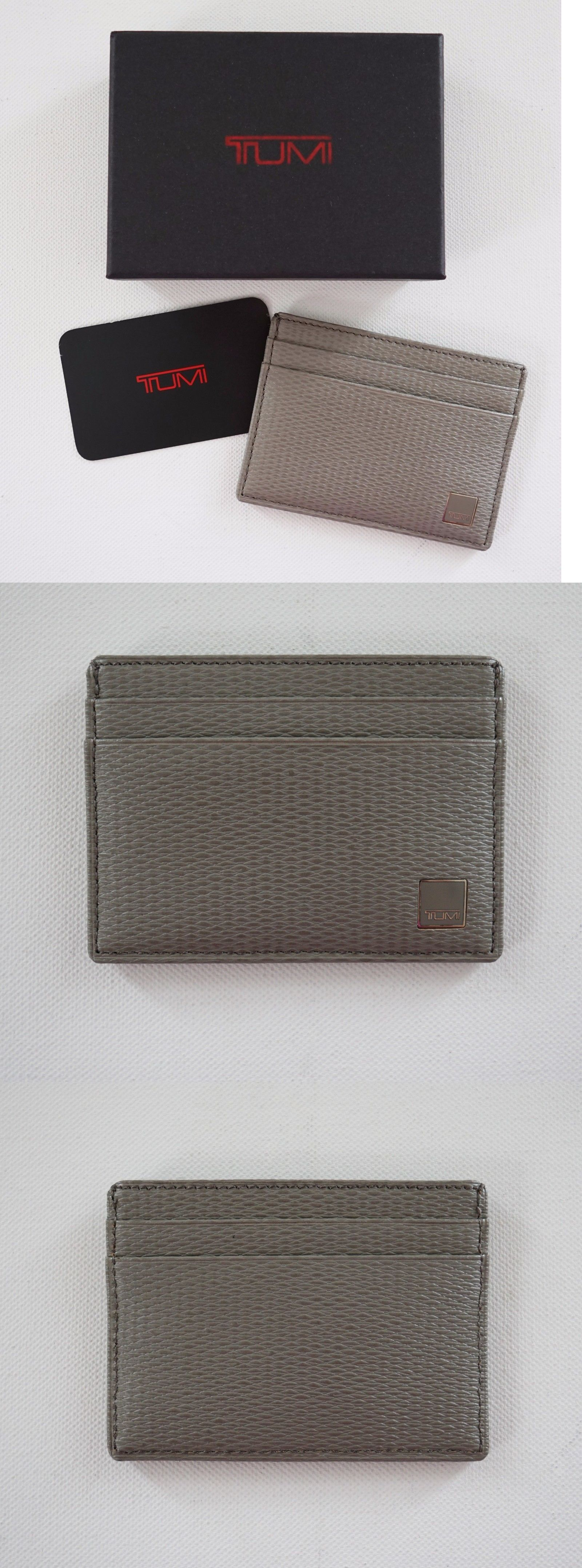 Business and Credit Card Cases 105860: Tumi *Monaco* Fossil Gray ...
