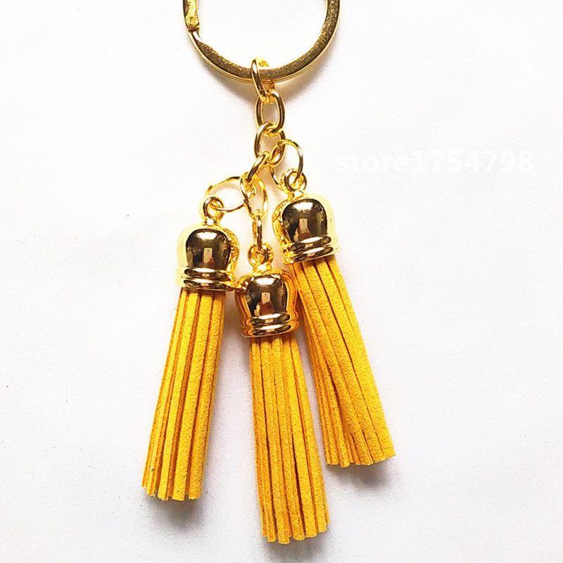 Leather Tassel Key Chain~