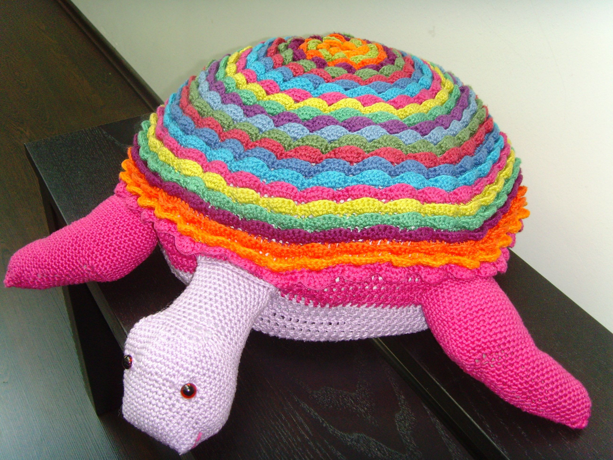 Sea turtle pillow case done with the free crochet pattern from Lucy ...