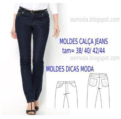 moldes de calças jeans feminina