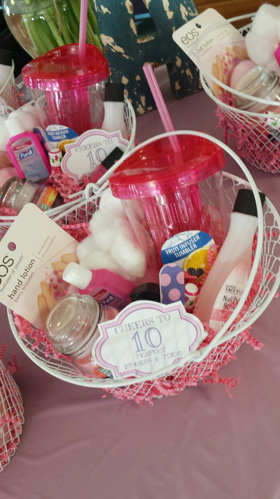 "Baby Shower Prize- ""Cheers to 10 perfect fingers and toes"" - Nail kit"