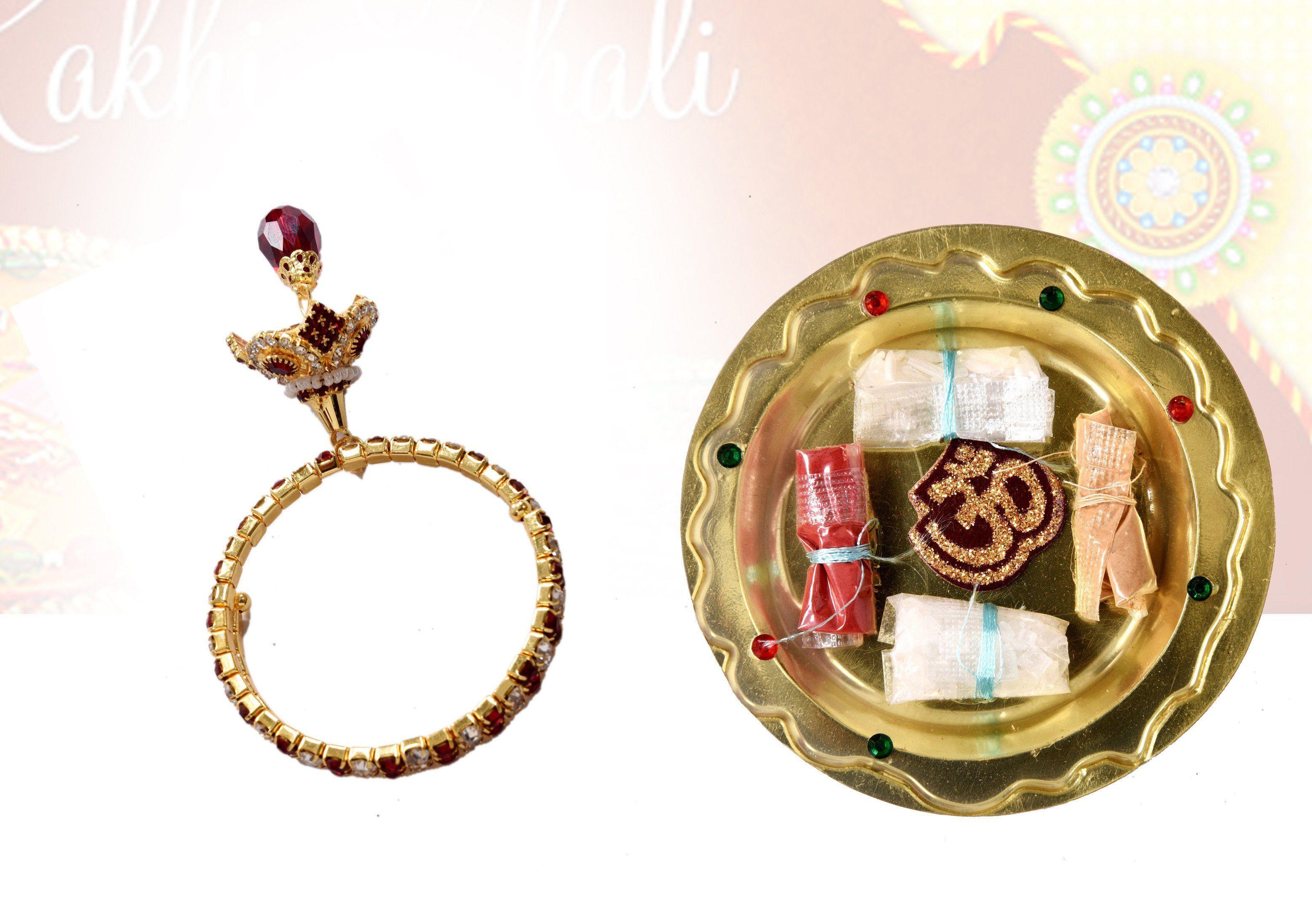 Handmade bracelet with kundan zircons meenakari for girls stone