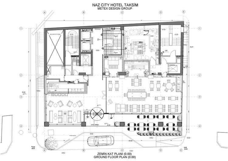 Gallery Of Naz City Hotel Taksim Metex Design Group 41 Hotel Floor Plan Restaurant Plan Hotel Architecture