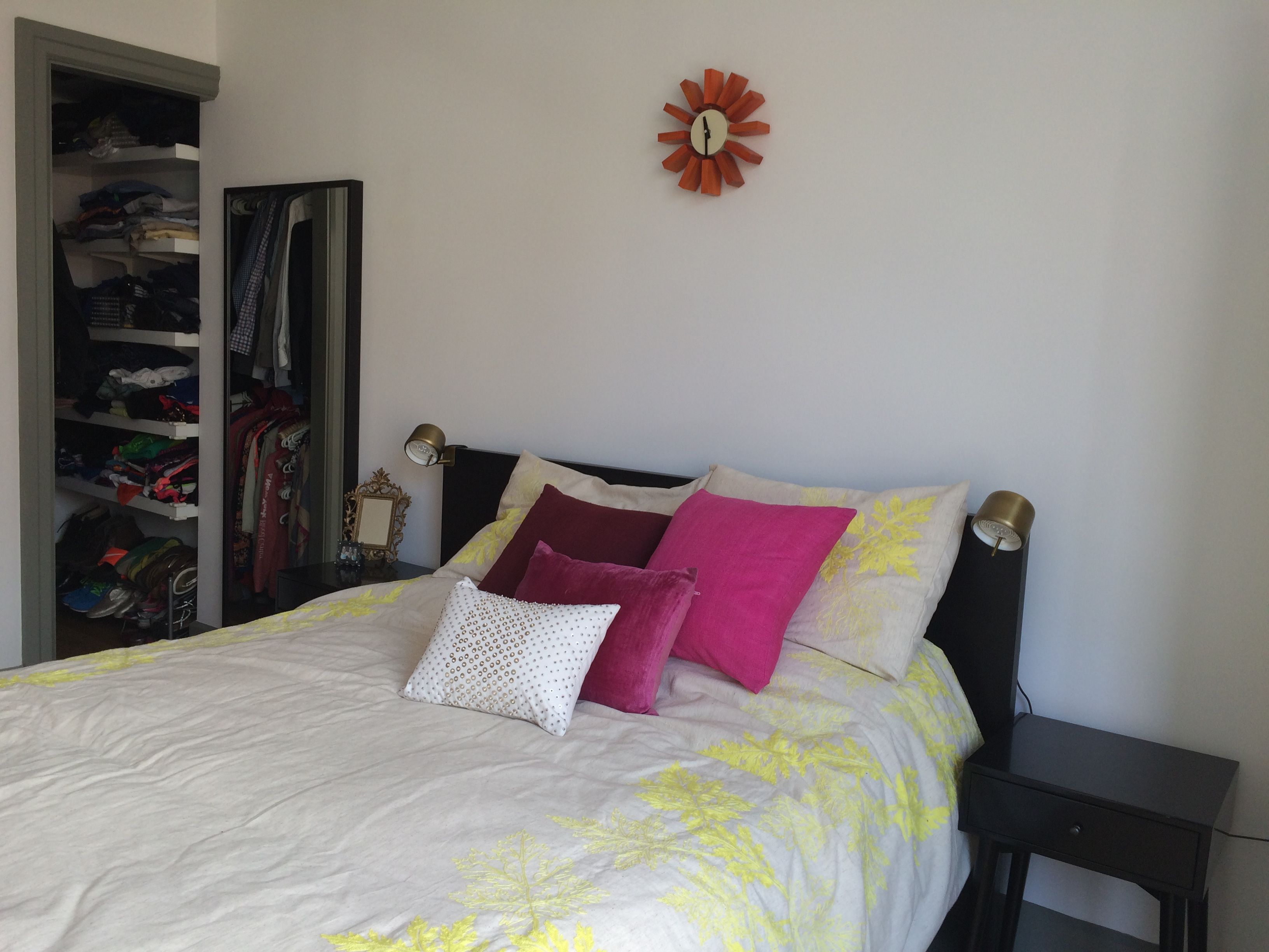 West Elm Embroidered Leaf Border Duvet Cover, ABC Carpet U0026 Home Pillows,  Ikea MALM
