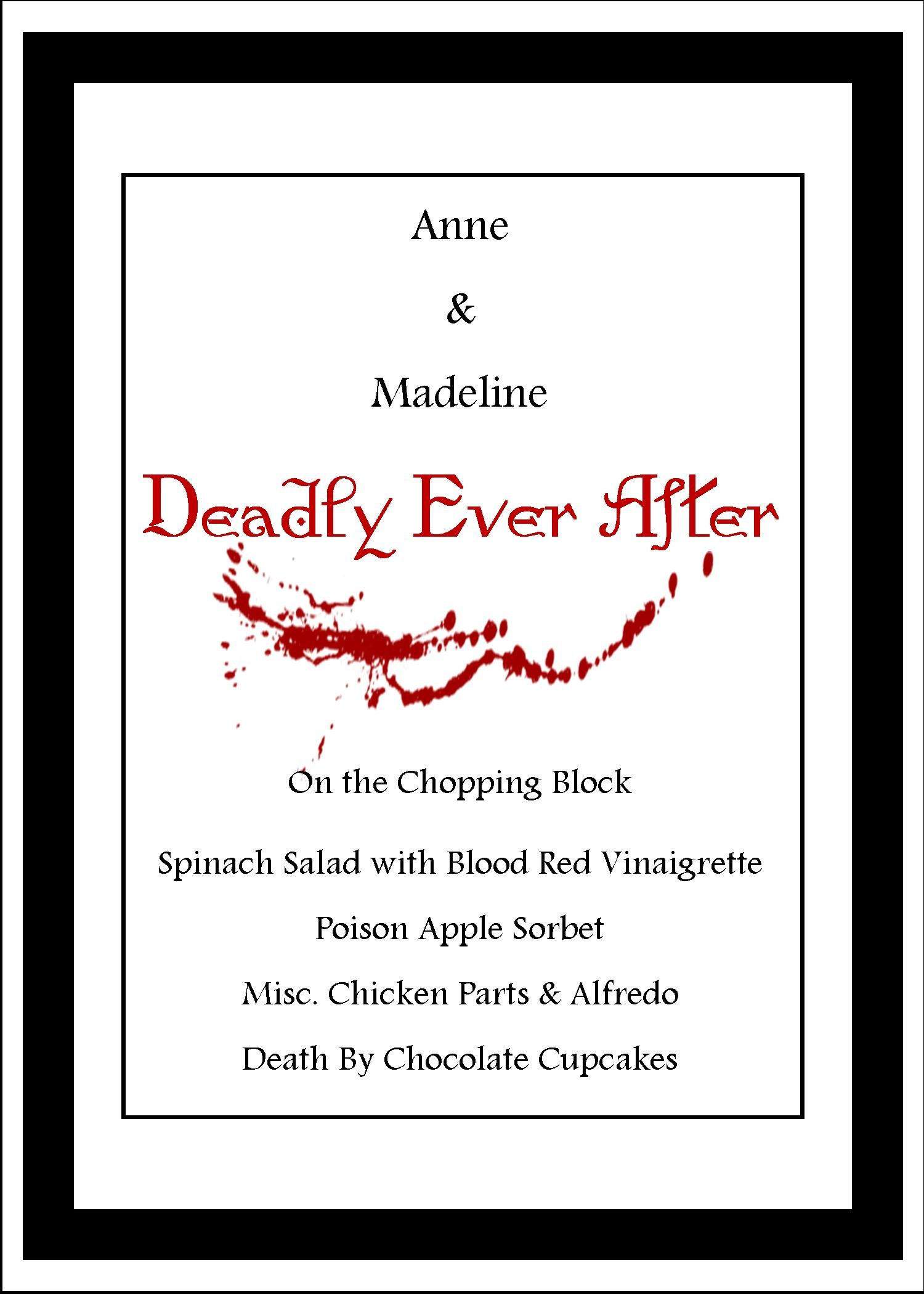 Charming Mystery Dinner Party Menu Ideas Part - 7: Murder Mystery Menu For Two Young Ladies 16th Birthday Dinner At The Inn.  Themed U0027