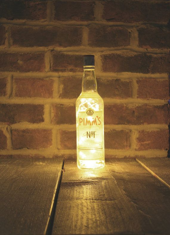 Hey, I found this really awesome Etsy listing at https://www.etsy.com/listing/224806884/upcycled-pimms-bottle-lamp-solar-battery