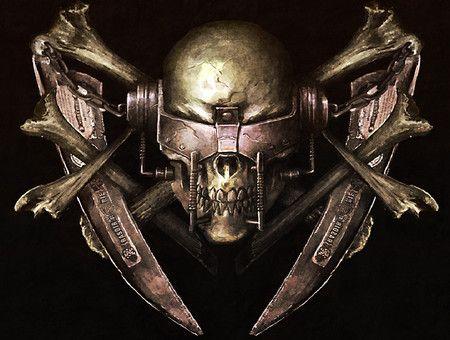 Wallpaper Skull Scary