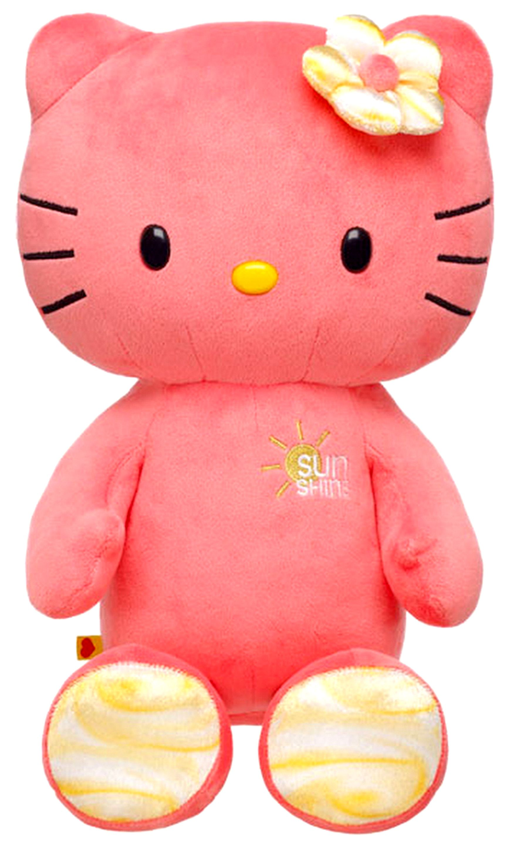 d6df38d8f NEW Build a Bear Workshop Hello Kitty Sunshine Coral Large 18 inch Sanrio  Unstuffed Plush Toy